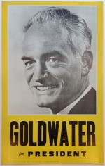 Poster #2 –  Goldwater for President